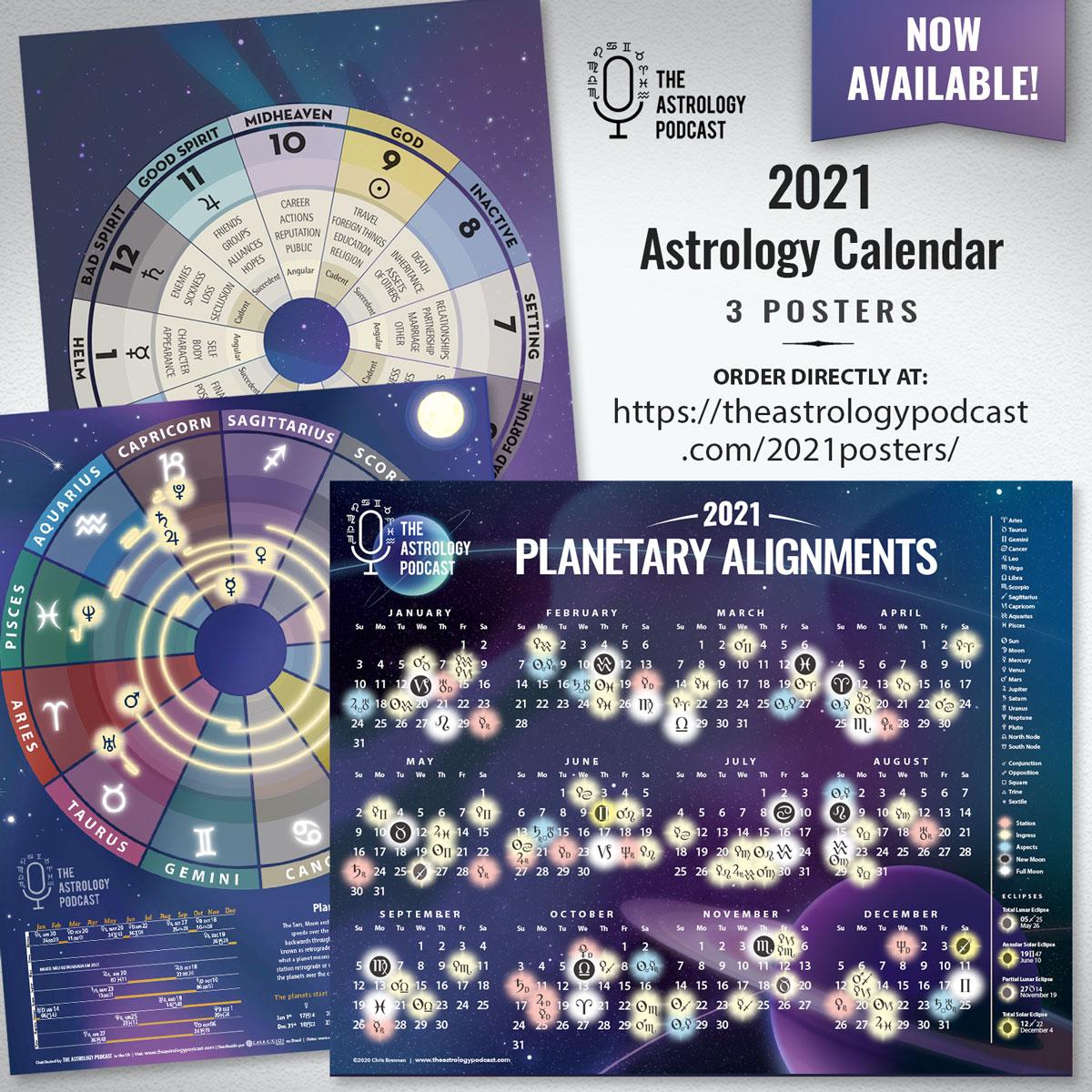 2021 Astrology Calendar Posters